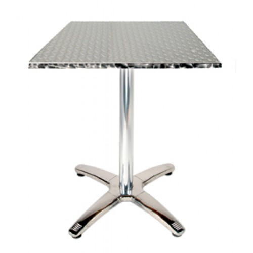 Square 32 X 32 Top Stainless Steel Table